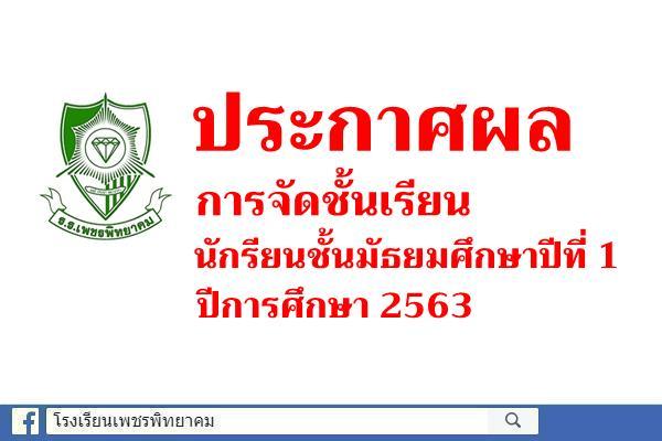 ประกาศผลการจัดชั้นเรียนนักรียนชั้นมัธยมศึกษาปีที่ 1 ปีการศึกษา 2563
