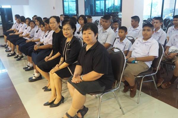 นักเรียน ม.1 เข้าร่วมพิธีทางศาสนามหามงคลเฉลิมพระเกียรติ สมเด็จพระเจ้าลูกเธอ เจ้าฟ้าจุฬาภรณวลัยลักษณ์ อัครราชกุมารี